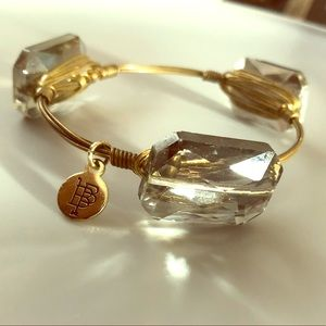 Wire Wrapped Crystal Bracelet Marked BB